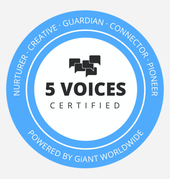 5 voices certified infographic